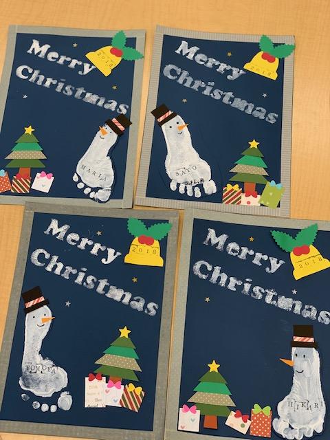 手形足形アート&クリスマスパーティー